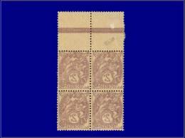 Qualité: XX – 108, Bloc De 4, Impression Recto-verso, Signé Calves. Cat Price €: 280 - Stamps