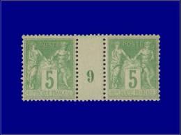"""Qualité: XX – 106, Paire Millésime """"9"""". (Maury). Cat Price €: 110 - Stamps"""