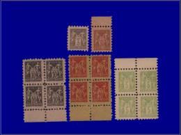 Qualité: XX – 2 Exemplaire + 3 Blocs De 4, Poste Enfantine, Type Sage. - Stamps