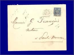 """90, Cad d'essai """"Paris 1 place de la Bourse"""" 19/9/1889. (Maury). Cat Price €: 900"""