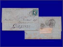 """60, sur enveloppe, Cad bureau de passe """"1307"""", Dijon. Cat Price €: 130"""