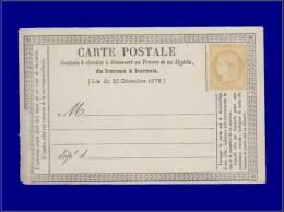 Qualité: (X) – 59, Sur Cp Officielle Type 2: 15c. Bistre. Cat Price €: 114 - Stamps