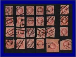 Qualité: O – 51 T, Lot De 24 Exemplaires, Avec Cachets Typographiques De Jounaux: 2c.... - Stamps