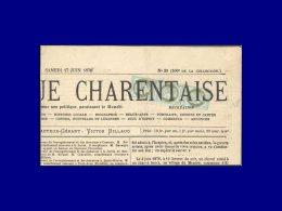 50, bande de 3 sur grand fragment de journal, oblitération typographique (3° échelon)...