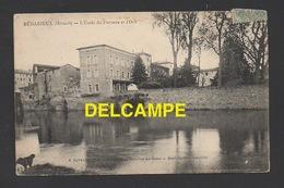 DD / 34 HÉRAULT / BÉDARIEUX / L'ECOLE DU PARTERRE ET L'ORB / CIRCULÉE EN 1906 - Bedarieux