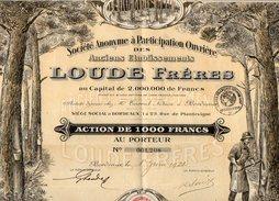 VP10.064 - BORDEAUX 1921 - Action - Des Anciens Etablissements LOUDE Frères - Industrie