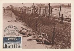 Guerre 1939-1945 - Carte Maximum - Souvenir Des Camps De Déportation - Cachet Premier Jour Du Timbre 1955 - Guerre 1939-45