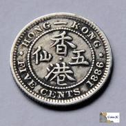 Hong Kong - 5 Cents - 1886 - Hong Kong