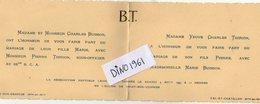 VP10.068 - CIREY SUR VEZOUZE X VAL - Faire Part De Mariage De Mr P.THIRON Sous Officier Au 22è B.C.A & Melle M.BUISSON - Mariage