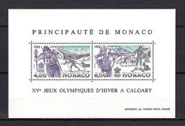 Monaco 1988 Sport Olympics Calgary MNH (cv 14) - Olympische Spelen