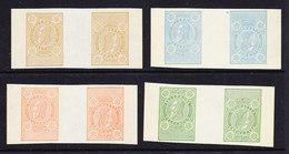 Belgie 1891 Telefoonzegels 4w Kopstaand Proefdrukken, Zonder Waardeaanduiding, Zonder Gom (35643) - Telefoonzegels