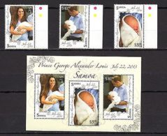 Samoa 2013 Royal Baby Prince George Famous People MNH - - Famous People
