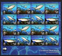 Nevis 2014 Marine Life WWF Caribbean Reef Shark MNH - Marine Life