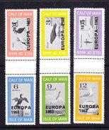 Europa Cept 1963 Calf Of Man / Isle Of Man 6v (3 Gutter)  ** Mnh (35644) - Europa-CEPT
