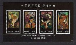 Palau 2012 Art Writers J.Barrie Peter Pan MNH - Célébrités