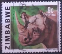 """ZIMBABWE 1980 Fauna. Emision De 1978 De Rodesia Con El Nuevo Nombre Del País Inscrito: """"ZIMBABWE"""". USADO - USED - Zimbabwe (1980-...)"""