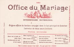 Carte Postale - Office Du Mariage - Intermédiaire Matrimonial - Noces