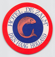"D5775 ""HOTEL DE ZALM - HOLLAND - DEN HAAG "" ETICHETTA ORIGINALE - ORIGINAL LABEL - - Adesivi Di Alberghi"