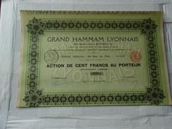 GRAND HAMMAM LYONNAIS (1925) - Aandelen