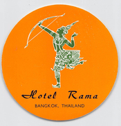 "D5779 "" HOTEL ROMA - BANGKOK - THAILANDIA "" ETICHETTA ORIGINALE - ORIGINAL LABEL - - Adesivi Di Alberghi"