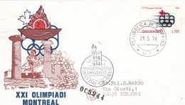 San Marino FDC 1976 Montreal Olympic Summer Games (T16-27)