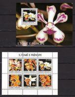 S.Tome & Principes 2003 Flowers Flora Orchids MNH --(cv 22) - Planten