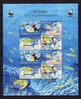 Barbados 2006 WWF Fish MNH Mi.1119-22 KB(8) - Meereswelt