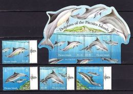 Pitcairn Islands 2012 Marine Life Dolphins MNH Mi.851-54 Bl.60 - Marine Life