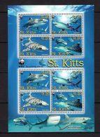 St.kitts 2007 Marine Life Sharks WWF MNH Mi.955-58 (8) - Marine Life