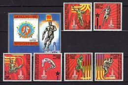 Guinea-Bissau 1980 Olympics Moscow MNH Mi.554-59 Bl.166A --(cv 22) - Olympic Games