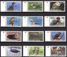 Tonga 2012 Fauna Birds MNH Overprint  Mi.1742-53 - Birds