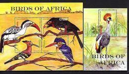 Ghana 2007 Birds MNH Mi.3936-39 Bl.485 - Oiseaux