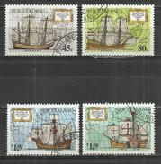 NEW ZEALAND 1992 - GREAT VOYAGES OF DISCOVERY - SHIPS - CPL. SET - USED OBLITERE GESTEMPELT USADO - Bateaux