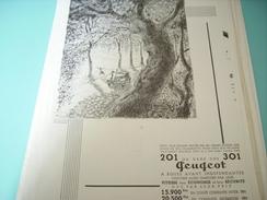 ANCIENNE PUBLICITE 201 OU 301 PEUGEOT 1934 - Voitures