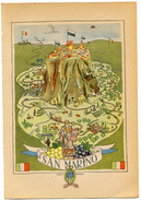 SAN MARINO - Splendida Litografia Tedesca Del 1949 - Lithographien