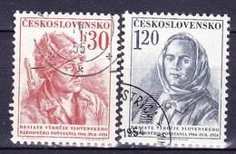 Tchécoslovaquie 1954 Mi 869-70 (Yv 773-4), Obliteré