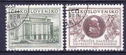 Tchécoslovaquie 1955 Mi 892-3 (Yv 792-3), Obliteré