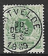 OCB Nr 45 Lion Leeuw Centrale Stempel Ertvelde - 1869-1888 Lion Couché