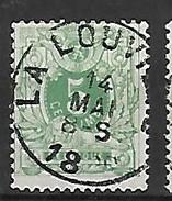 OCB Nr 45 Lion Leeuw Centrale Stempel La Louviere - 1869-1888 Lion Couché
