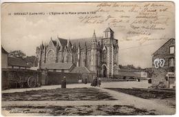 11 - Orvault - L'eglise Et La Place Prises à L'est - Orvault