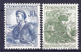 Tchécoslovaquie 1956 Mi 979-80 (Yv 869-70), Obliteré