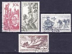 Tchécoslovaquie 1956 Mi 984-7 (Yv 871-4), Obliteré