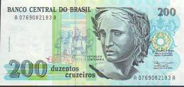 Banco Central Do Brasil 200 Cruzeiros, Banconota F. Di S. - Brazil