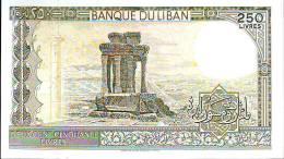 Banque Du Liban, 250 Livres,  Banconota F. Di S. Anno 1988 - Libano