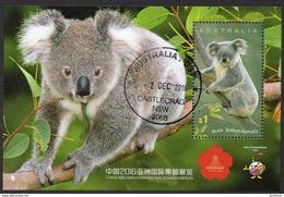 AUSTRALIA, 2016 KOALA MINISHEET FOR THE CHINA EXHIBITION CTO - Mint Stamps
