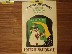 AFFICHE LOTERIE NATIONALE . GROVE. MAI 1956. JULES VERNE.LES 500 MILLIONS DE LA LOTERIE - Affiches
