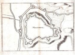 Plan De MONSTREUIL.feuille:360 X 310 Mm.19e - Cartes Géographiques
