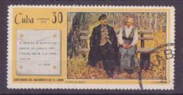 63-973 // CUBA - 1970  100 BIRTHDAY Of LENIN  Mi 1594 O - Used Stamps