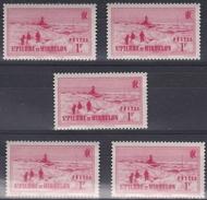 St Pierre Et Miquelon 1938 - N°181** Luxe - Lot De 5 Timbres - Unused Stamps
