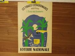 AFFICHE LOTERIE NATIONALE . GROVE. MARS-AVRIL 1956. LES TIRAGES EXTRAORDINAIRES D'APRES JULES VERNE.L'ECOLE DES GAGNANTS - Affiches